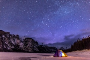 Tent and Shooting Stars